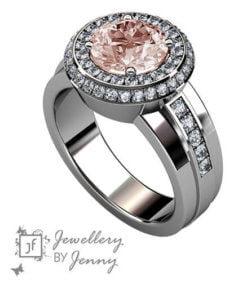morganit och diamantring