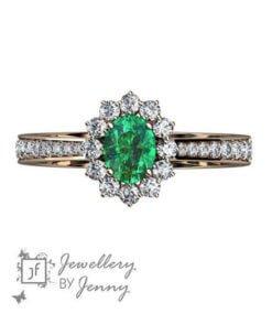 haloring med grön sten
