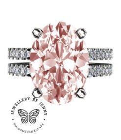 ring med morganit och diamanter