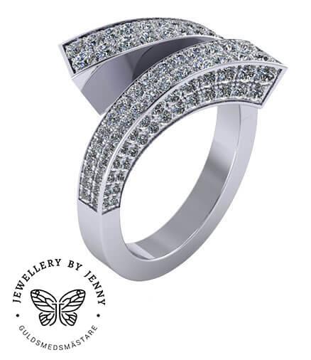 ring med diamanter