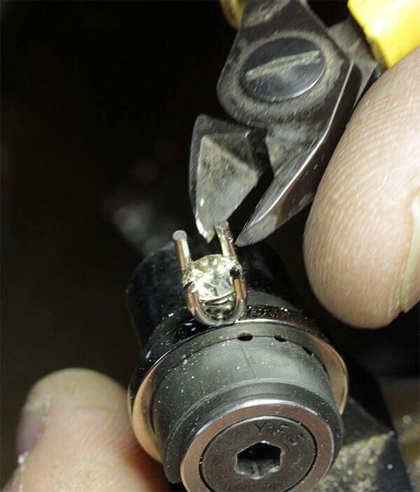 diamantring infattning