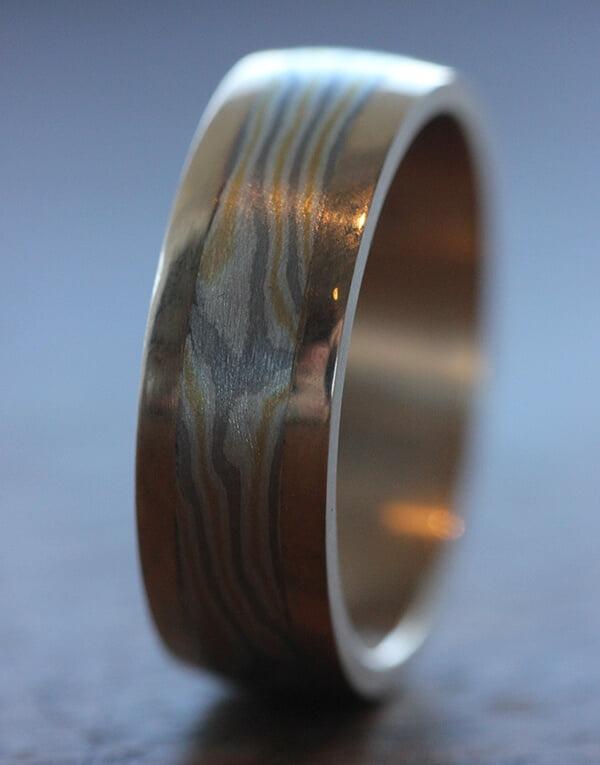 Mokumé gane ring