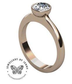 diamantring roséguld